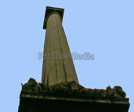 blue city town pillar london england