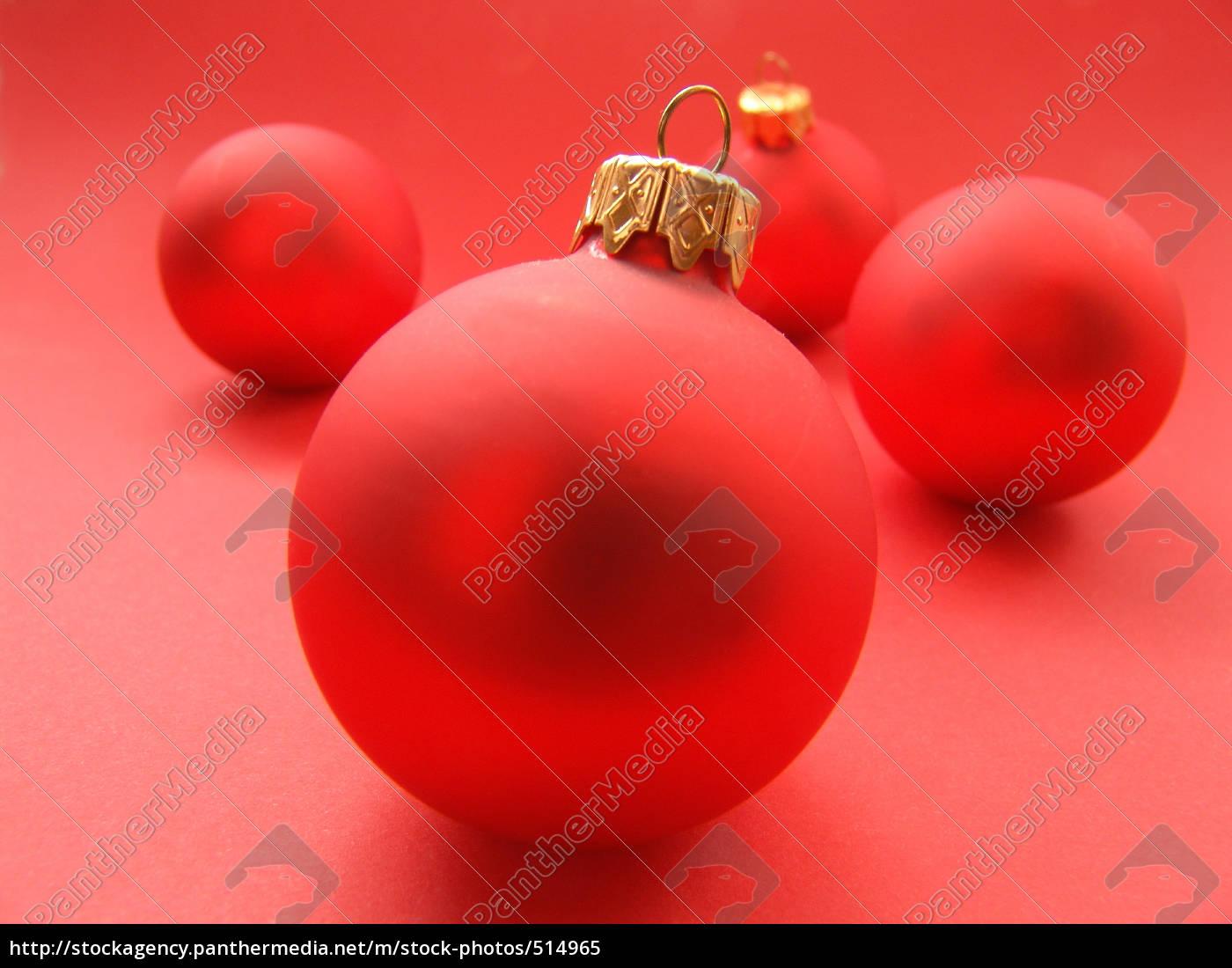 Rote Christbaumkugeln.Stockfoto 514965 Rote Christbaumkugeln