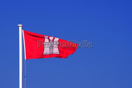 flage der freien hansestadt hamburg