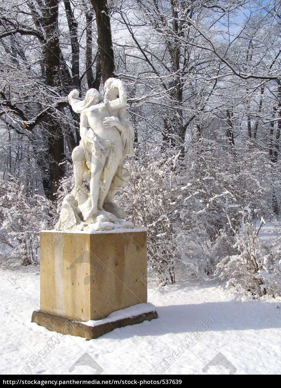Skulptur Im Großen Garten Dresden Stockfoto 537639