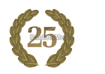 lorbeerkranz 25jaehriges jubilaeum