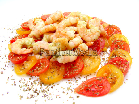 gambas auf tomaten