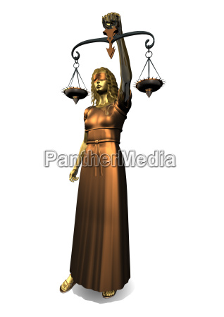 3d statue der justizia