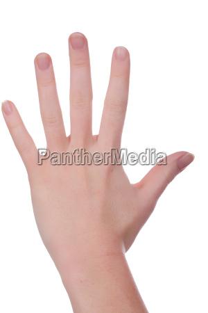fuenf finger