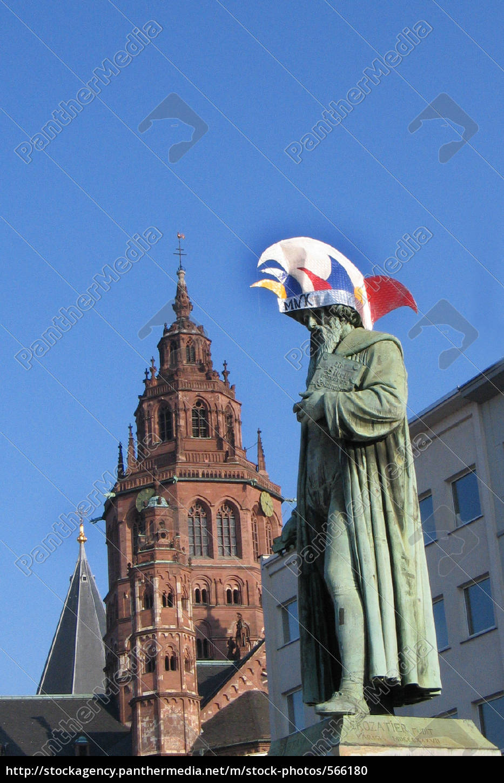 Fotografen Mainz mainzer gutenberg denkmal an fastnacht lizenzfreies foto 566180 bildagentur panthermedia