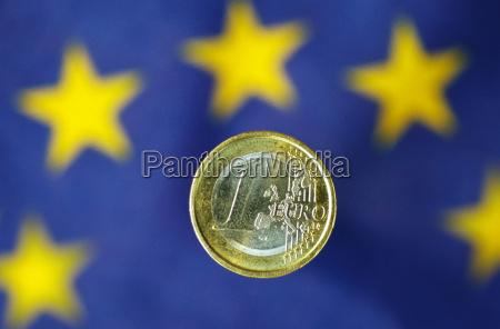 euro con bandera de la ue