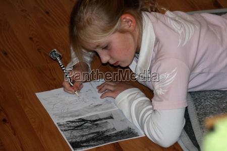 girl leg painting ii