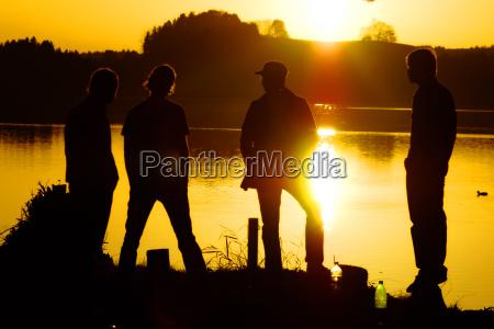 youth on lake