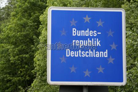 schild signal zeichen europa grenze eu