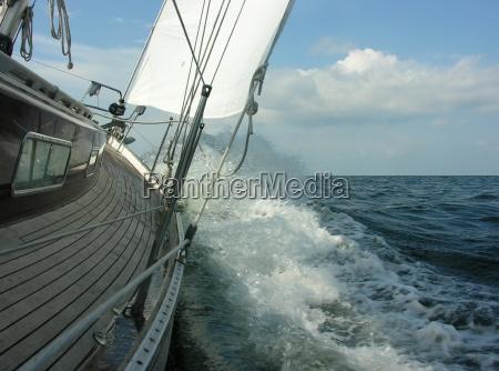 waves sail water baltic sea salt