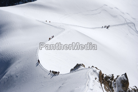 alpinisten unterwegs