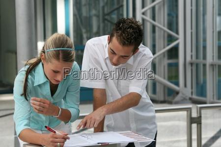 zwei studenten