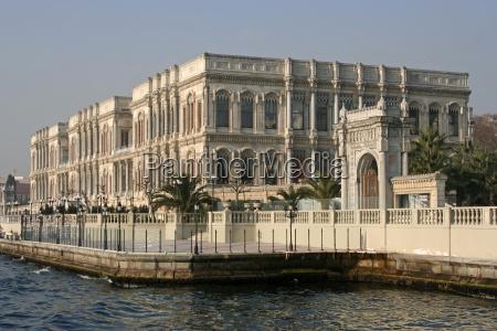 bauten tourismus tuerkei palast istanbul bosporus
