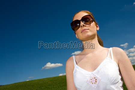 large sunglasses in summer