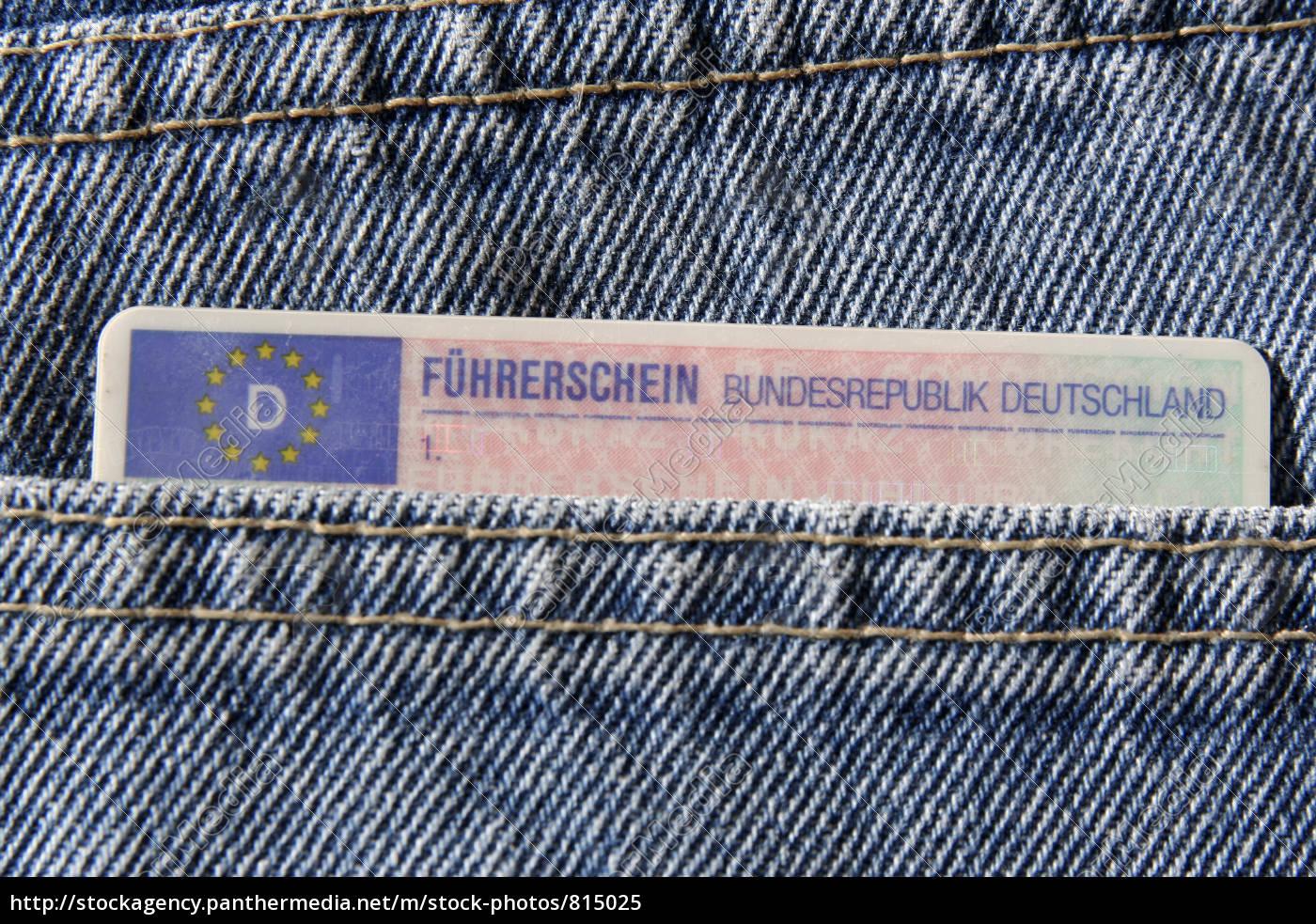 führerschein, in, jeanshosentasche - 815025