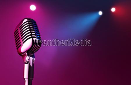 mikrofon auf buehne