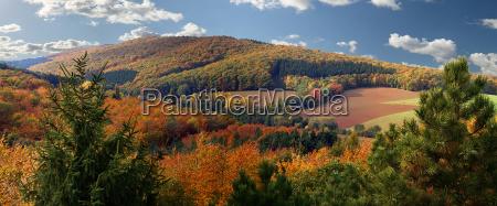 autumn landscape near hildesheim