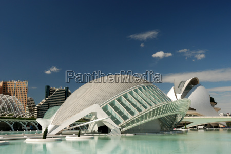 futuristic buildings in valencia