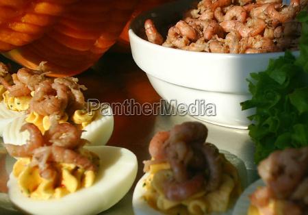 krabben auf ei