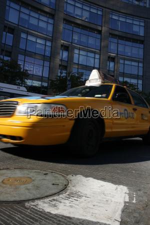 taxi in fahrt