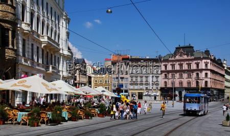 bruenn marktplatz und fussgaengerzone