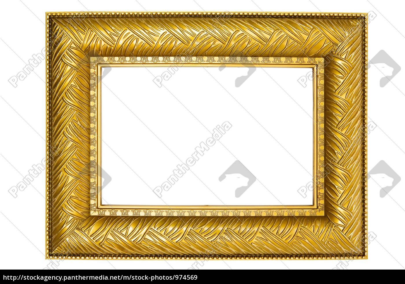 goldener bilderrahmen mit verzierungen lizenzfreies bild 974569 bildagentur panthermedia. Black Bedroom Furniture Sets. Home Design Ideas