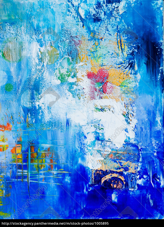 abstrakte malerei blau lizenzfreies bild 1005895 bildagentur panthermedia. Black Bedroom Furniture Sets. Home Design Ideas