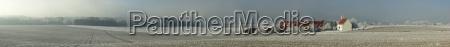 panorama winterlandschaft laubbronnen