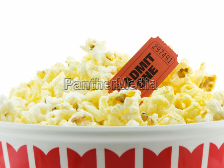 popcorn mit kinokarte