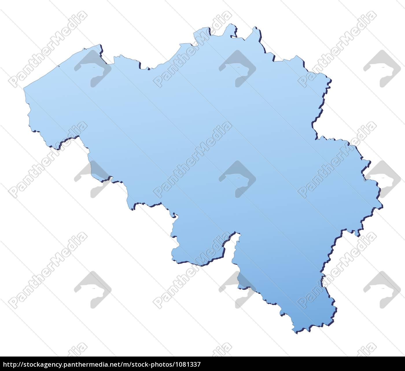 Belgien Karte Umriss.Lizenzfreies Bild 1081337 Belgien Karte