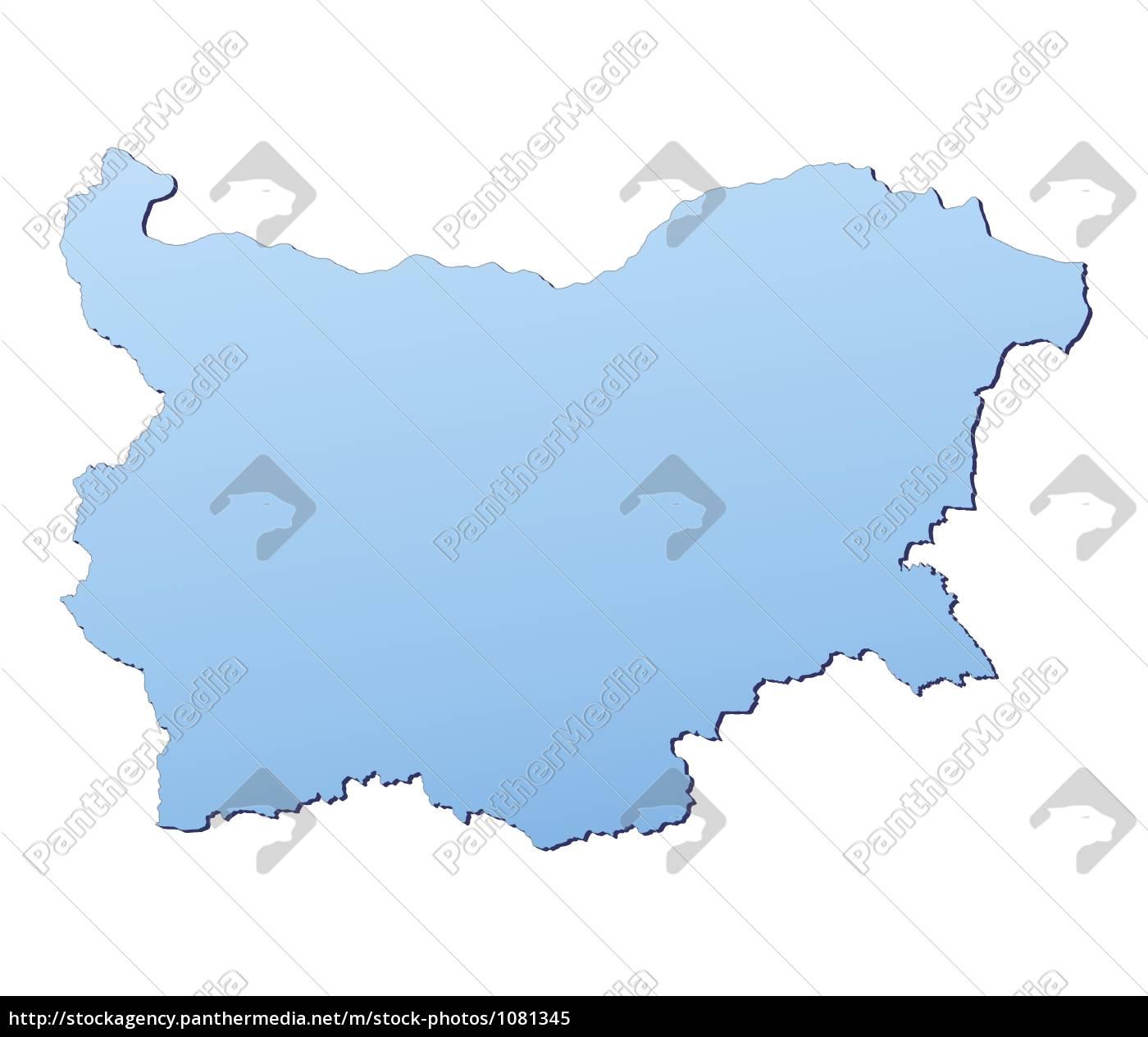 Karte Bulgarien.Lizenzfreies Bild 1081345 Bulgarien Karte