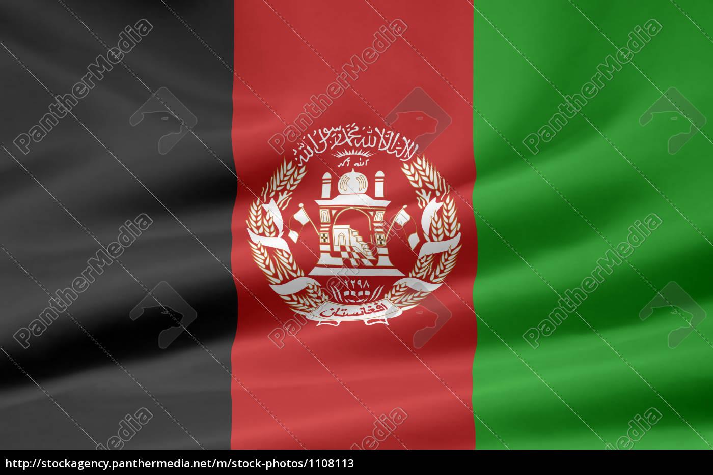 Afghanische Flagge Stockfoto 1108113 Bildagentur Panthermedia