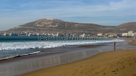 strand in agadir marokko