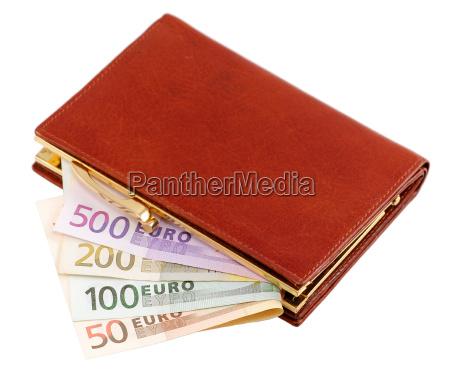 geldboerse mit euro scheinen