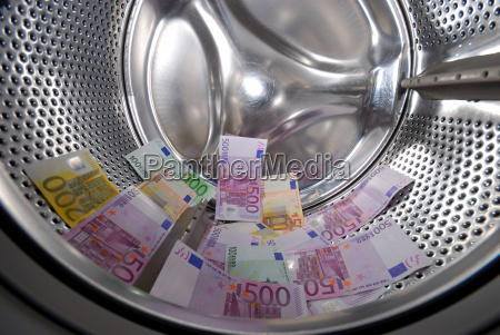 geldwaesche in der waschmaschine