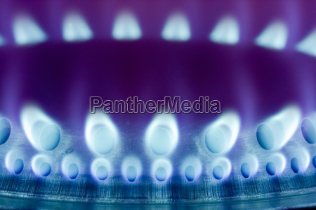 lila gasflamme