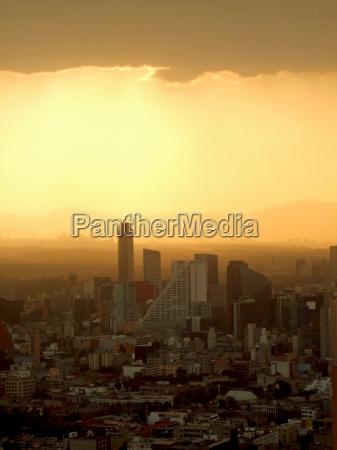 smog ueber mexiko city