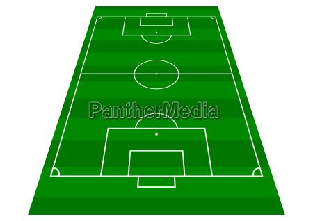 fussball pitch perspektive