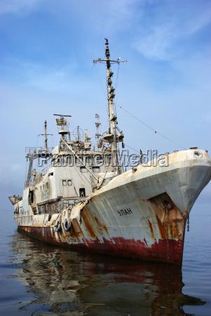 shipwreck at sea