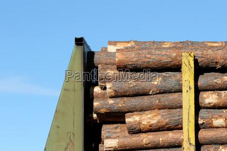 lumber on train