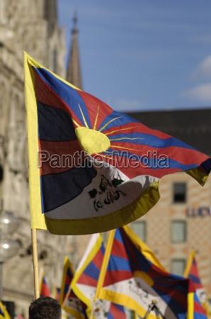 tibet freiheit demonstration gegen china