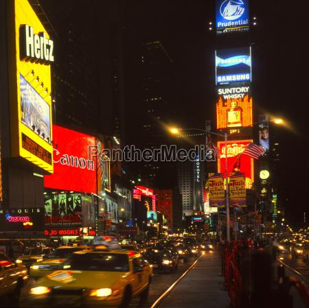 nachtaufnahme times square new york