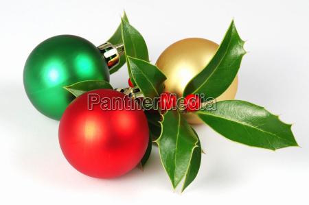 weihnachtshole und baelle