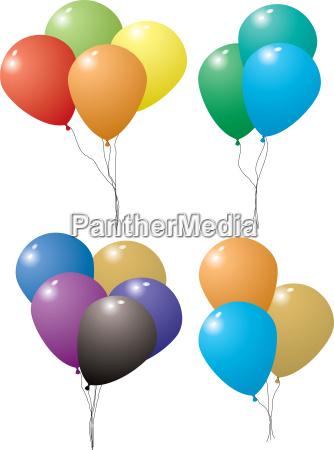ballon luftballon farbige erfreut gluecklich anspruchslos