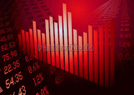 wirtschaftszahlen grafik rot