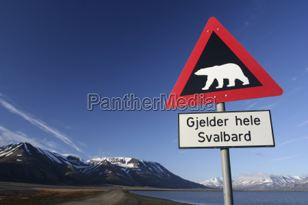 warnschild eisbaer spitzbergen