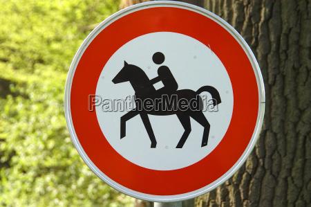 ride a forbidden sign