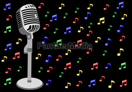 musiknoten mikrophon