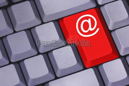 tastatur mit email symbol
