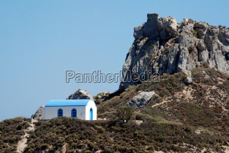 romantic greek wedding chapel and a